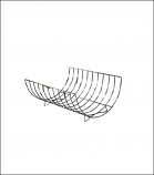 Chrome Plated Material Saver Floor Rack