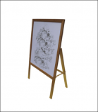 Bamboo A-Frame Banner Stand - Single Faced